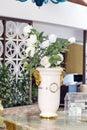 Big White Ceramic Vase With Wh...
