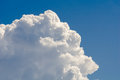 Big white cloud against blue sky Royalty Free Stock Photo