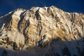 Big white mountains zoom shot showing enormous himalayan with interesting light Royalty Free Stock Image