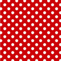 Big White Polka Dots, Red Seamless Background Royalty Free Stock Photography