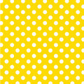 Big White Polka Dots on Yellow, Seamless Royalty Free Stock Photography