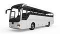 Big White Tour Bus Royalty Free Stock Photo