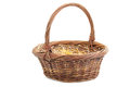 Big Wicker basket Stock Images