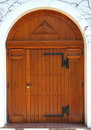 Big wooden door of a church Royalty Free Stock Photo