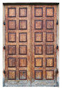 Big wooden oak doors in old church Royalty Free Stock Photo