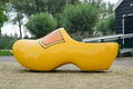 Big yellow clog from the netherlands Royalty Free Stock Images