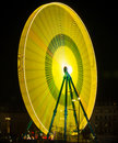 Big yellow and green wheel Royalty Free Stock Photo