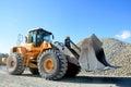 Big yellow mining truck Royalty Free Stock Photo