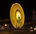 Big yellow and orange wheel Royalty Free Stock Photo