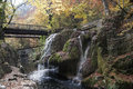 Bigar waterfall in the autumn season Royalty Free Stock Photos