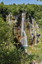 The bigest waterfall veliki slap at pltvice lakes in croatia Stock Photo