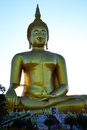 Biggest buddha image the in thailand at wat muang in angthong Royalty Free Stock Images