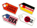 Biggest exporters. Collection of labels Stock Images