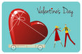 Biggest Love. Happy Valentines day greeting card Stock Photo