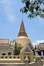 Biggest stupa in Thailand Royalty Free Stock Photography