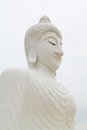 A biggest white Buddha Royalty Free Stock Image