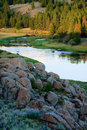 Bighole River at Sunset, Montana Royalty Free Stock Images