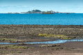 Bight of beauport at low tide france near paimpol finistere department brittany Stock Image