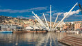 The Bigo in Port of Genoa, Italy Royalty Free Stock Photo