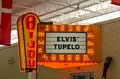Bijou elvis presley tupelo orange neon lite sign lighted located at the rock and roll museum outside of graceland in memphis Stock Photos