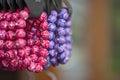 Bijouterie colorful bracelets on sale Stock Image