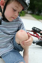 Bike accident Stock Photos