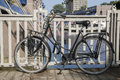 Bike and Canal Bridge in Rotterdam, Holland Royalty Free Stock Photo