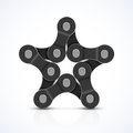 Bike chain star illustration Stock Photo