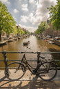 Bike chained in Amsterdam Royalty Free Stock Photo