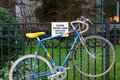 Bike Chained to a Fence Royalty Free Stock Photo