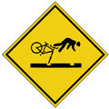 Bike crash sign (AI format available) Royalty Free Stock Photo