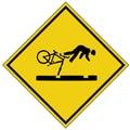 Bike crash sign (AI format available) Royalty Free Stock Photo
