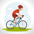 Bike and cyclism graphic design vector illustration eps Royalty Free Stock Images