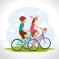 Bike and cyclism graphic design vector illustration eps Stock Images