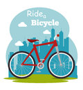 Bike and cyclism graphic design vector illustration eps Stock Photos