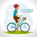 Bike and cyclism graphic design vector illustration eps Royalty Free Stock Photo