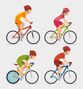 Bike and cyclism graphic design vector illustration eps Stock Image