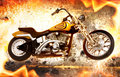 Bike on fire Royalty Free Stock Photos