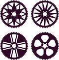 Bike gear vector pack of rear sprocket Royalty Free Stock Photos