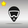 Bike helmet black Icon button logo symbol