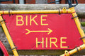 Bike hire Stock Photos