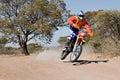 Bike la corsa del deserto Fotografia Stock
