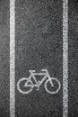 Bike lane asphalt texture Royalty Free Stock Photo