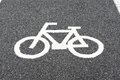 Bike lane an empty in downtown Royalty Free Stock Images