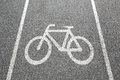 Bike lane path way cycle bicycle road traffic town Royalty Free Stock Photo