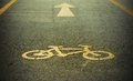 Bike lane road for bicycles sign Royalty Free Stock Photos