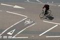 Bike lanes Royalty Free Stock Photo