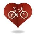 Bike love heart paper cut