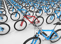 Bike odd one out concept Royalty Free Stock Photo
