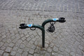 Bike park in Brugge Royalty Free Stock Photo